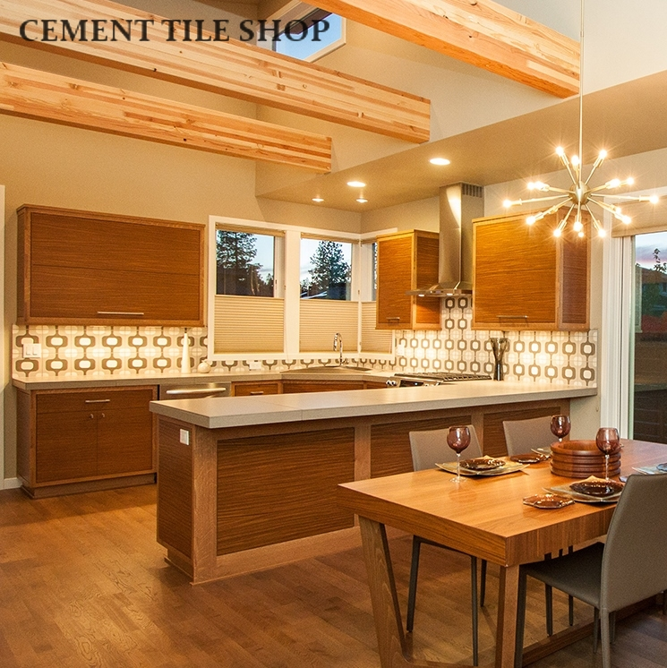 Kitchen backsplash cement tile shop blog Modern kitchen design tiles