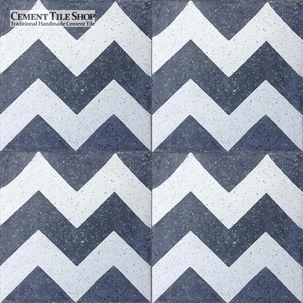 Cement Tile Shop - Chevron Black Terrazzo