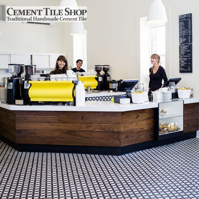 Cement Tile Shop Circulos White - Flying Goat Coffee