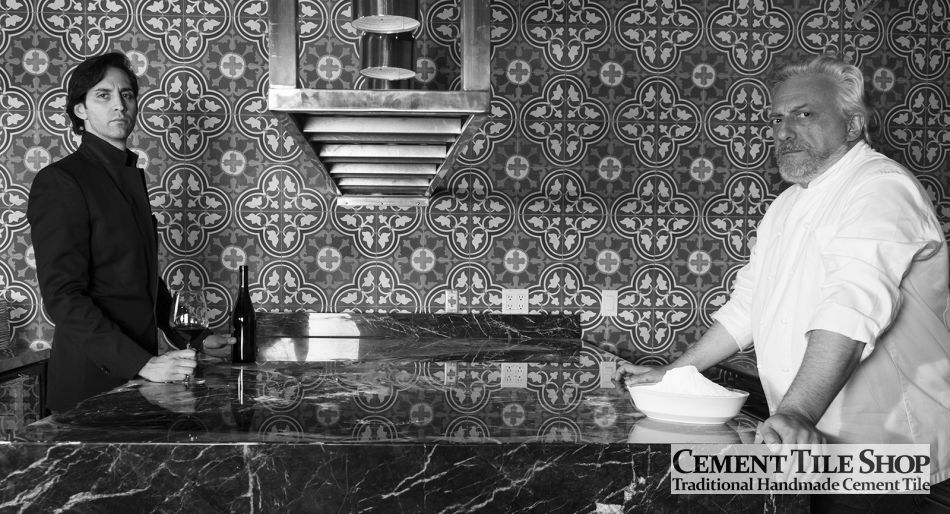 Cement Tile Shop - Roseton Red pattern. Mulino a Vino - New York