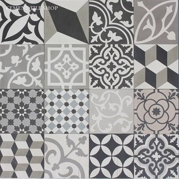 Cement Tile Shop - Patchwork Black and White