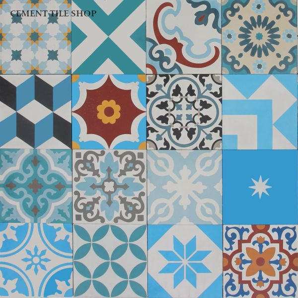 Cement Tile Shop - Patchwork Blue