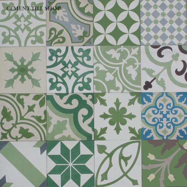 Cement Tile Shop - Patchwork Green