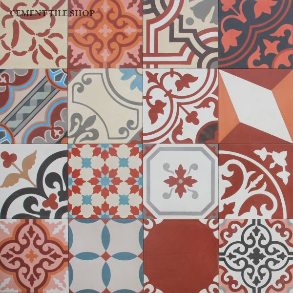Cement Tile Shop - Patchwork Red
