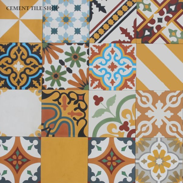 Cement Tile Shop - Patchwork Yellow