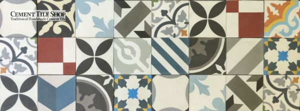 "Cement Tile Shop - 4"" Patchwork"