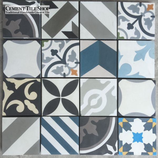 "4"" x 4"" Patchwork Cement Tiles"
