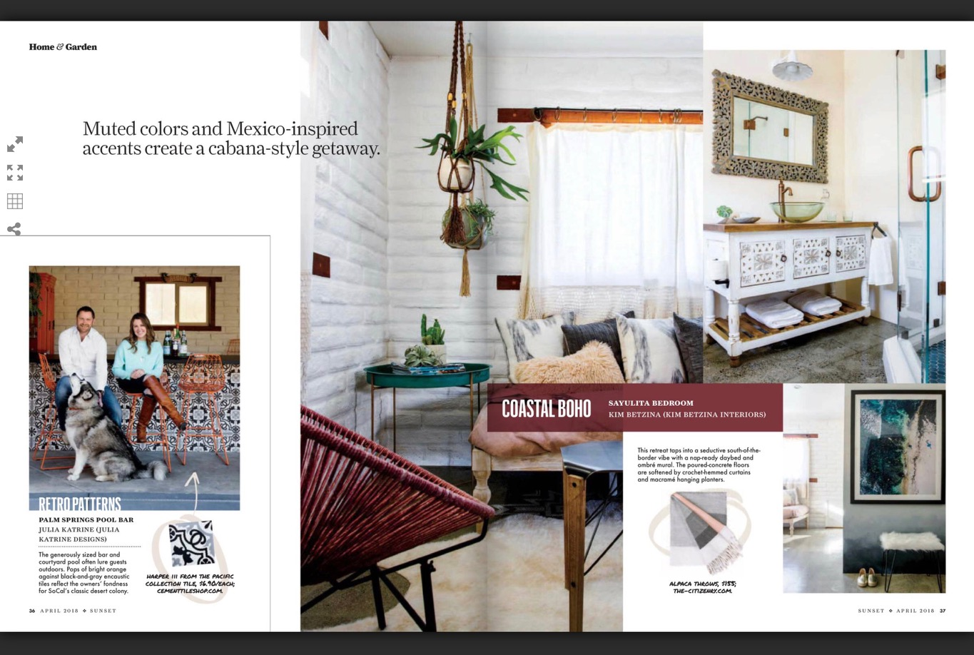 Sunset Magazine - Cement Tile Shop - Harper III Pattern - 5