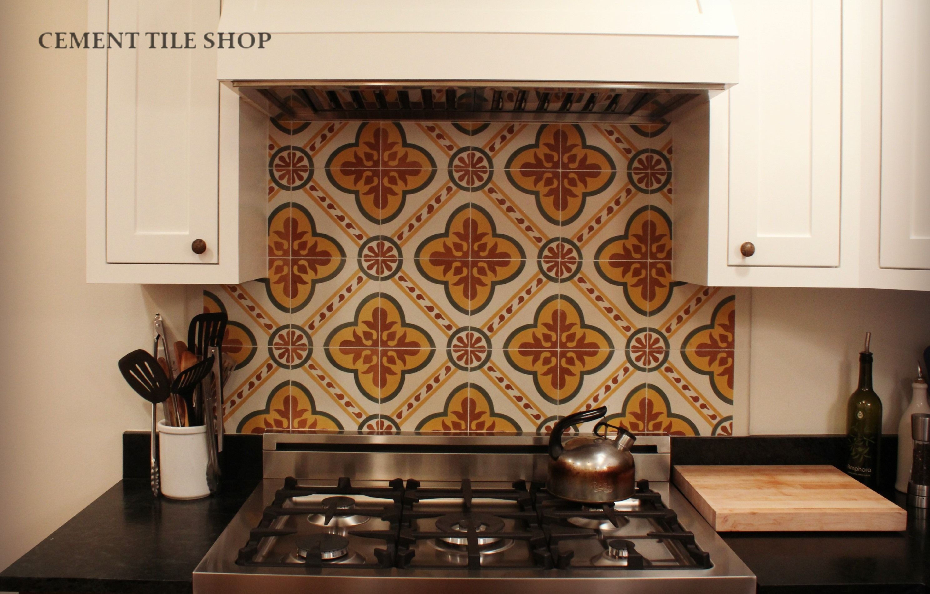 Custom Kitchen Backsplash Berkeley Ca Cement Tile