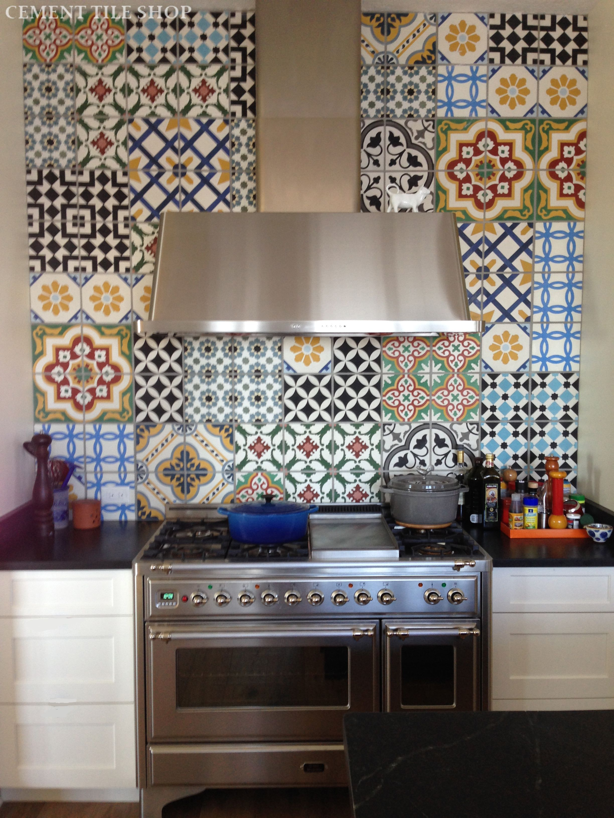 patterned kitchen wall tiles kitchen backsplash cement tile shop 4107