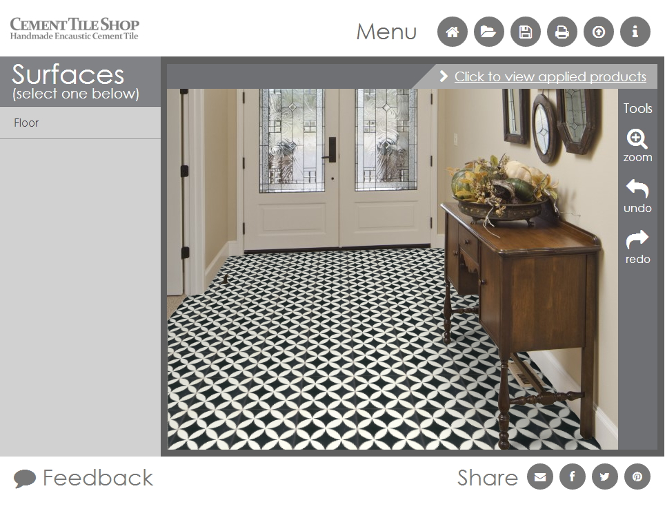 Cement Tile Room Visualizer