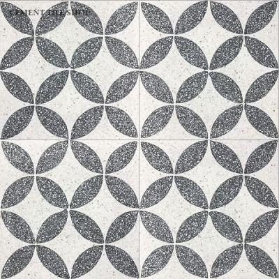 Cement Tile Shop - Encaustic Cement Tile Circulos White Terrazzo