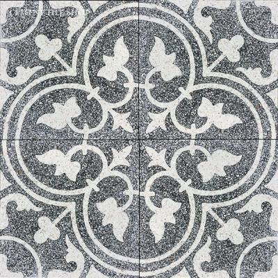 Cement Tile Shop - Encaustic Cement Tile Floret IV Terrazzo