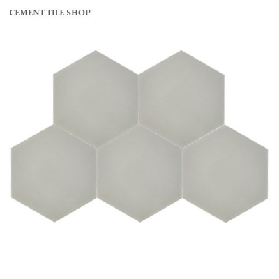 Cement Tile Shop - Encaustic Cement Tile Pacific Light Grey